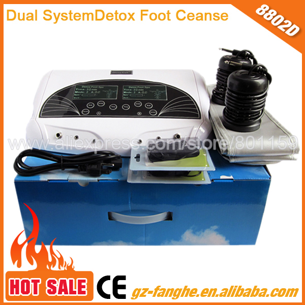 2015 hot selling dual body cleanse ion cell spa foot bath detox machine(China (Mainland))