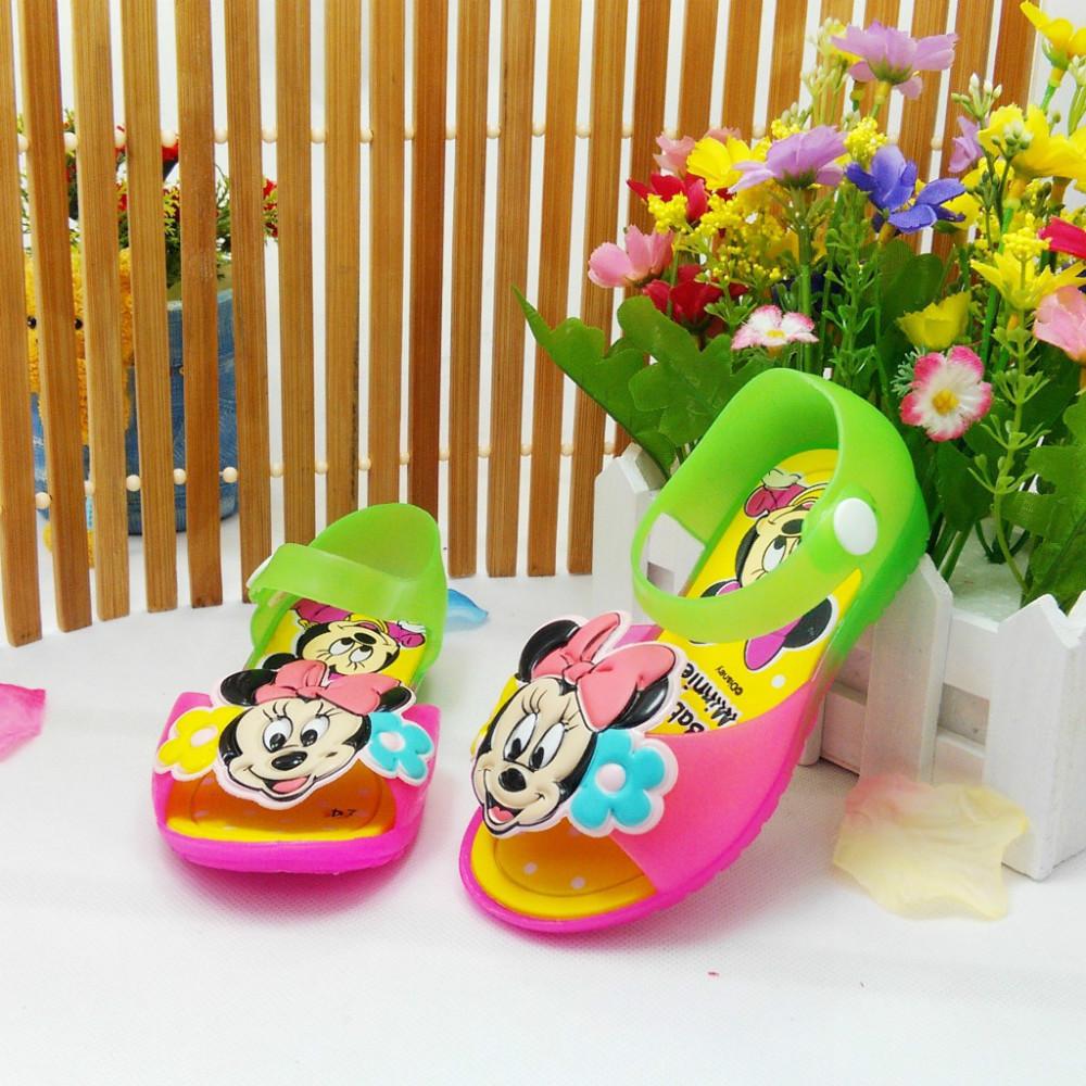 Girls jelly shoes Fashion crystal sandals child girls beach children's summer cartoon princess slippers - A-Lin Children's shop store