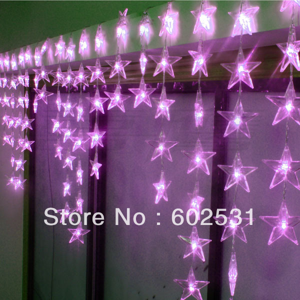 Free shipping-LED festival lamp/door curtain partition porch decoration (0.7 * 4 m the five-pointed star LED lamp)<br><br>Aliexpress