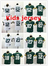 Kids youth Free Green Bay Packers,Aaron Rodgers,eddie lacy,Randall Cobb,Ha Clinton-Dix,Clay Matthews,Brett Favre for youth,kids(China (Mainland))