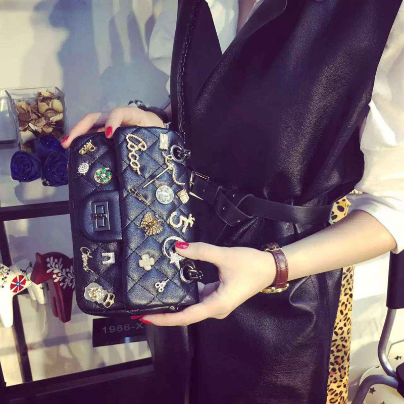 2015 Autumn New Style Female Bags Fashio Cute Sweet Chains H Hasp Shoulder Bags Messenger Wallet  Vogue and Versatile For Youngs<br><br>Aliexpress