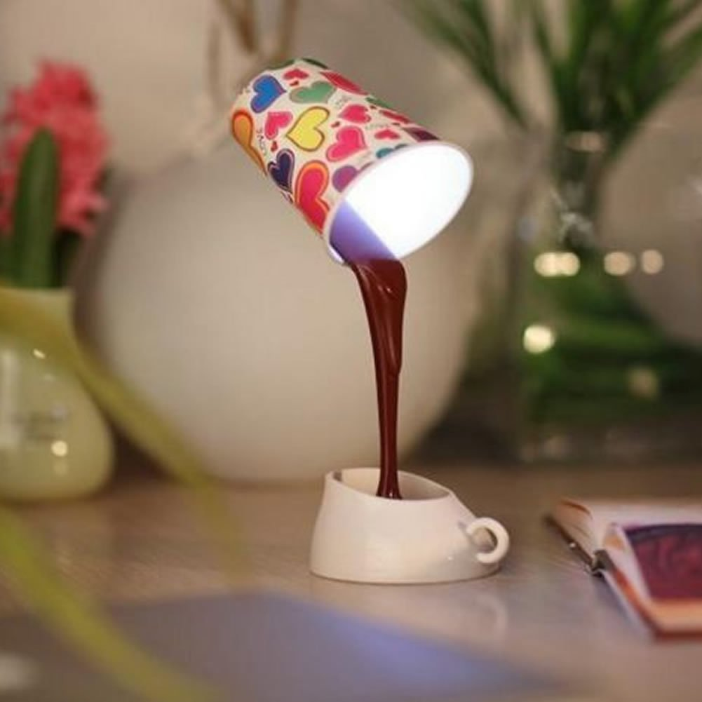 gtfs HeroNeo Novelty DIY LED Table Lamp Home Romantic Pour Coffee Usb Battery Night Light(China (Mainland))