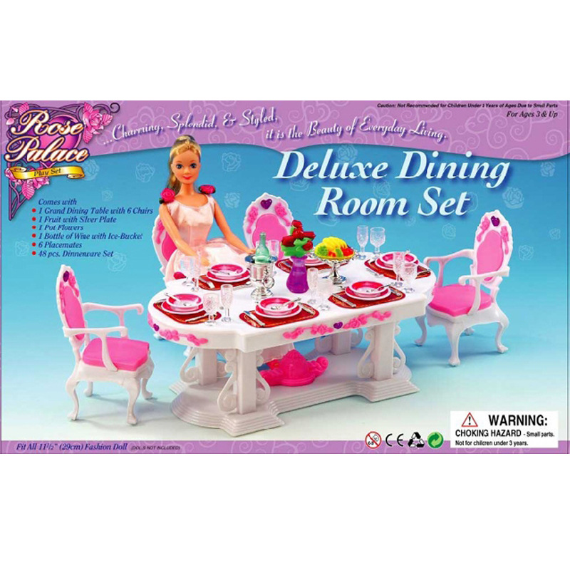 Genuine Princess case for Barbie doll furniture Dream Big Gift Set restaurant table luxury kitchen play house toys girl gifts(China (Mainland))