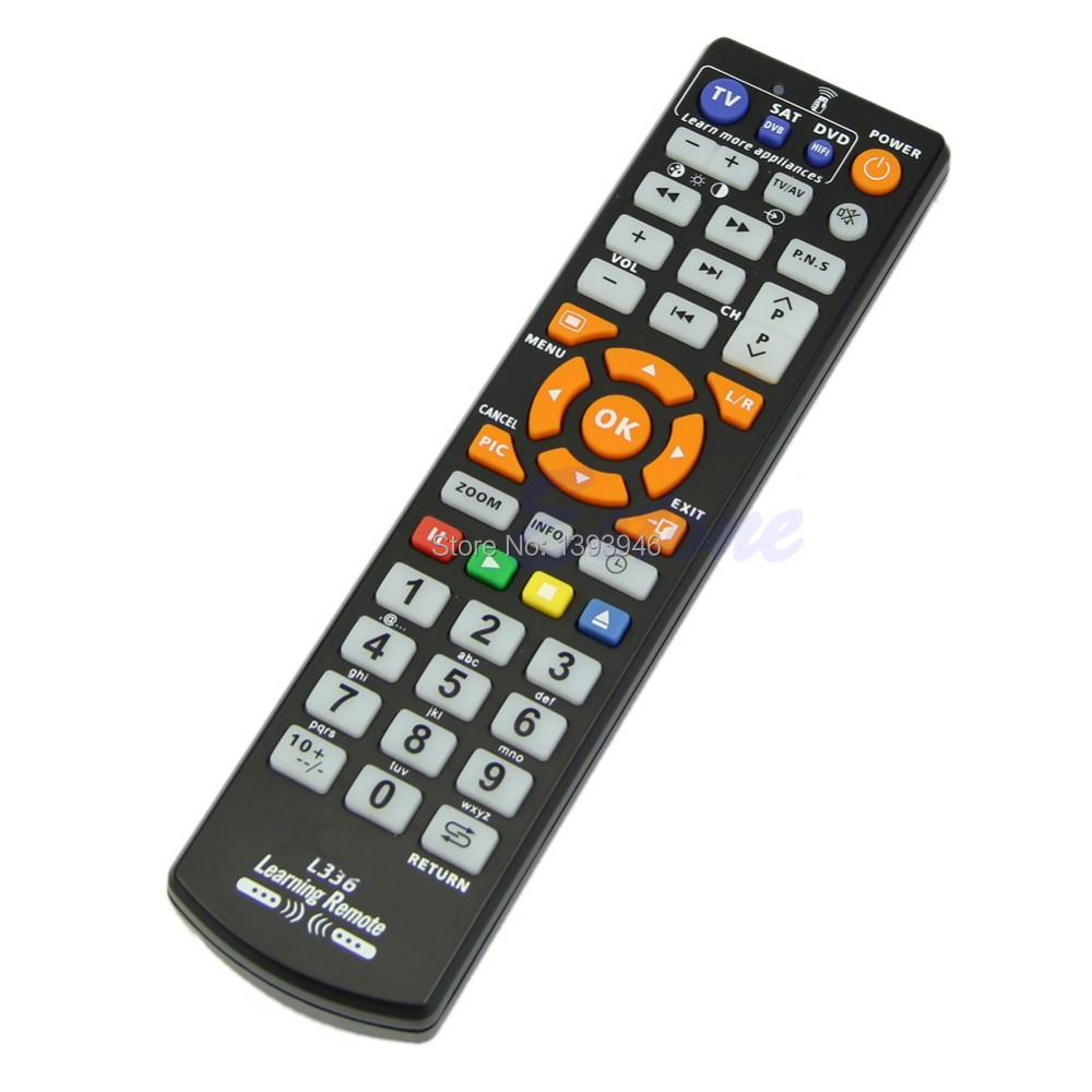 U119 Free Shipping Universal Smart Remote Control Controller With Learn Function For TV CBL DVD SAT(China (Mainland))