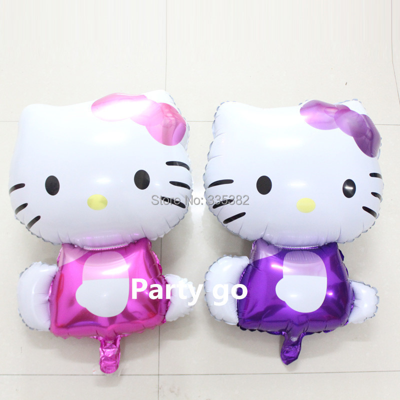 74*47cm new 50pcs/lot balloon mylar hello kitty balloons baby ballon kitty cartoon shape baloon party balloon birthday festa