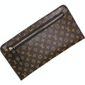 Women PU Leather Thin Soft Long Wallet Designer Purse Famous Brand Ladies Luxury Envelope Clutch Men