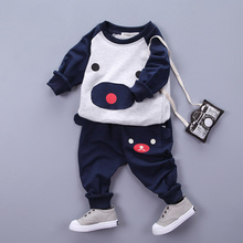 boys clothing sets autumn sport cartoon bear t shirt+pants fashion boy clothing set 2016 brand cute bear toddler clothing set