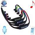 Sports Bluetooth neckband Headset Headphone support stereo TF Card slot FM three in one for Iphone