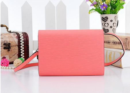 Free shipping the highest quality Louise pm Shoulder Bag epi GENUINE Leather Clutch bag chain louise Lady Handbag(China (Mainland))