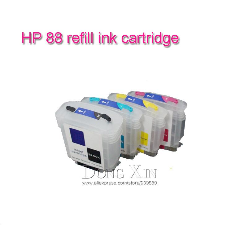 Aliexpress.com: Comprar Cartucho de tinta recargable para HP88 ...