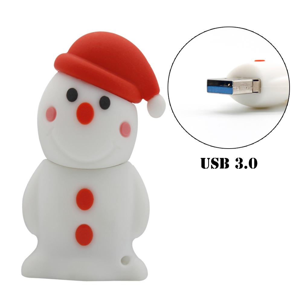 USB 3.0 Pendrive Christmas Gift USB Flash Drive 16GB 32GB 64GB Lovely Snowman USB stick USB Memory Stick Pen Drive FreeShipping(China (Mainland))