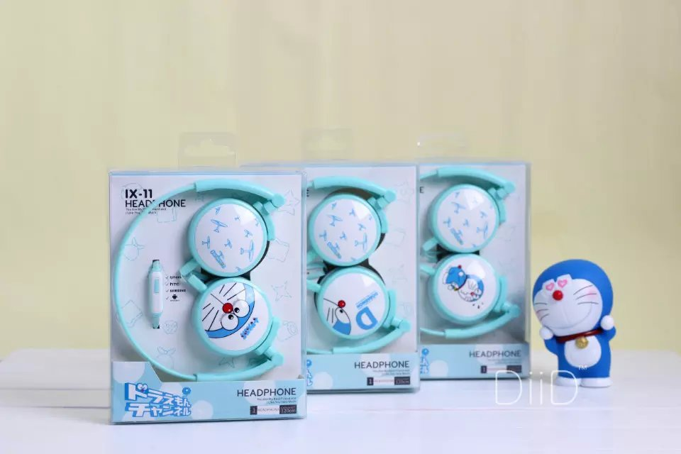 2016 Doraemon font b Headphone b font with Mic for Iphone 5 5s 6 6plus cute