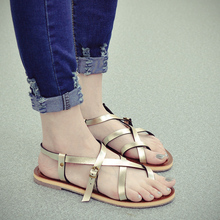 Thong Sandals White Sliver Black Gold Roma Style Gladiator Flats 2015 Summer Hot Sale High Quality Women Shoes Footwear Discount(China (Mainland))