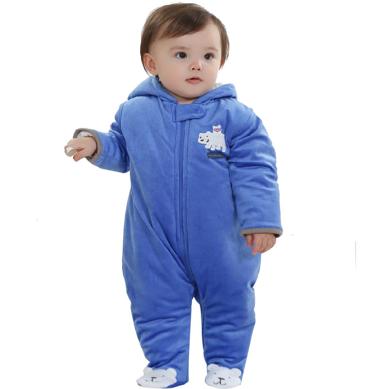 Pure baby cartoon thick warm cotton pants jumpsuit jumpsuit water proof winter warm jumpsuits bonds baby clothing footies pants(China (Mainland))