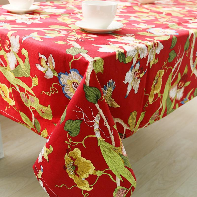 Factory direct cotton double-double dimensional printing tablecloths table linen tablecloth restaurant suit wholesale(China (Mainland))