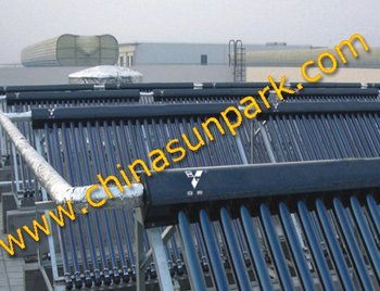 pressurized heat pipe solar collector with manifold 18 tubes
