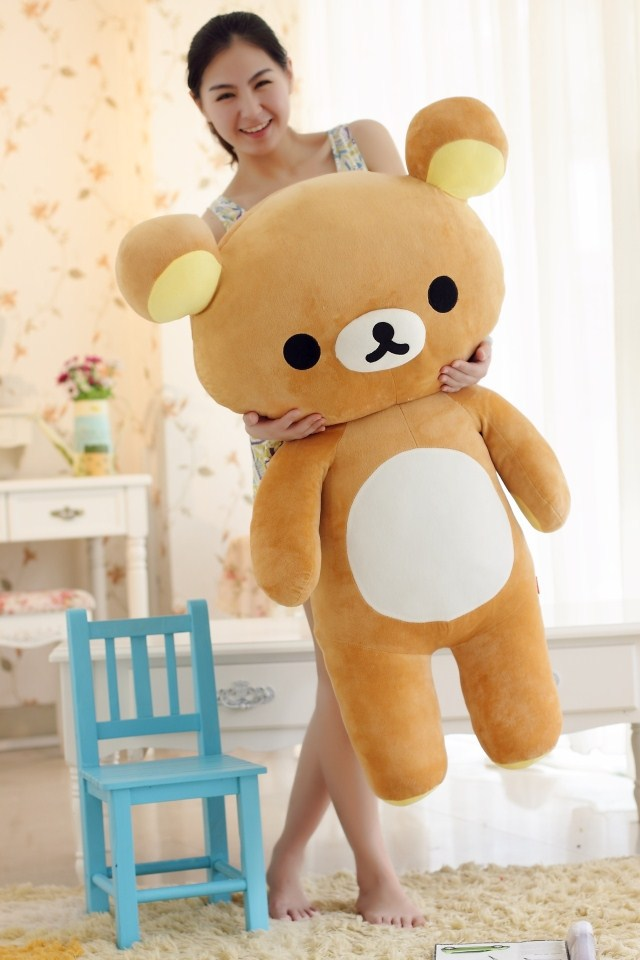 filling toy , large 110cm Rilakkuma bear plush toy relax teddy bear soft throw pillow birthday gift w5308(China (Mainland))