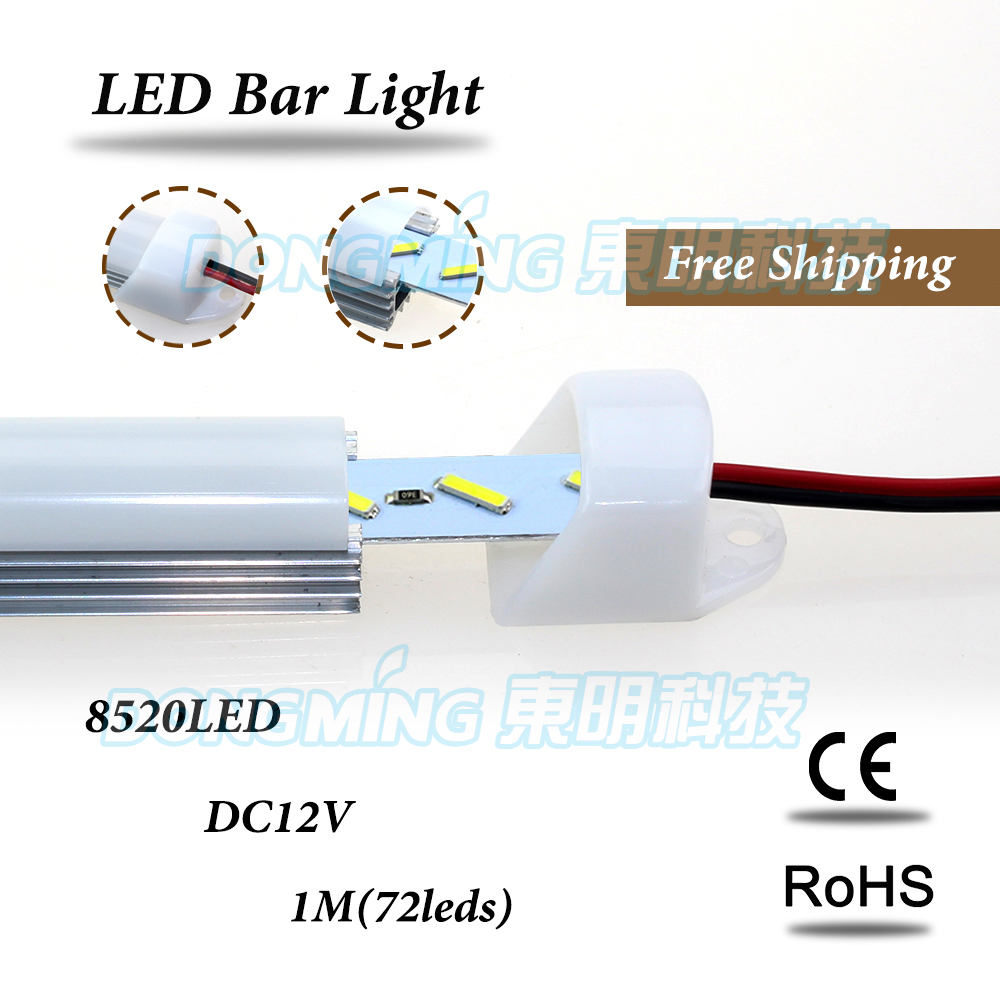 5m led bar light SMD 8520 led under cabinet light Motion Sensor Lamp + U aluminum shell + PC clear/milky cover + DC connectors(China (Mainland))