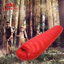 Buy Goose 3 sizes 3000g filling spring autumn Winter hiking climbing riding trekking foot outdoor camping mummy sleeping bag for $208.77 in AliExpress store