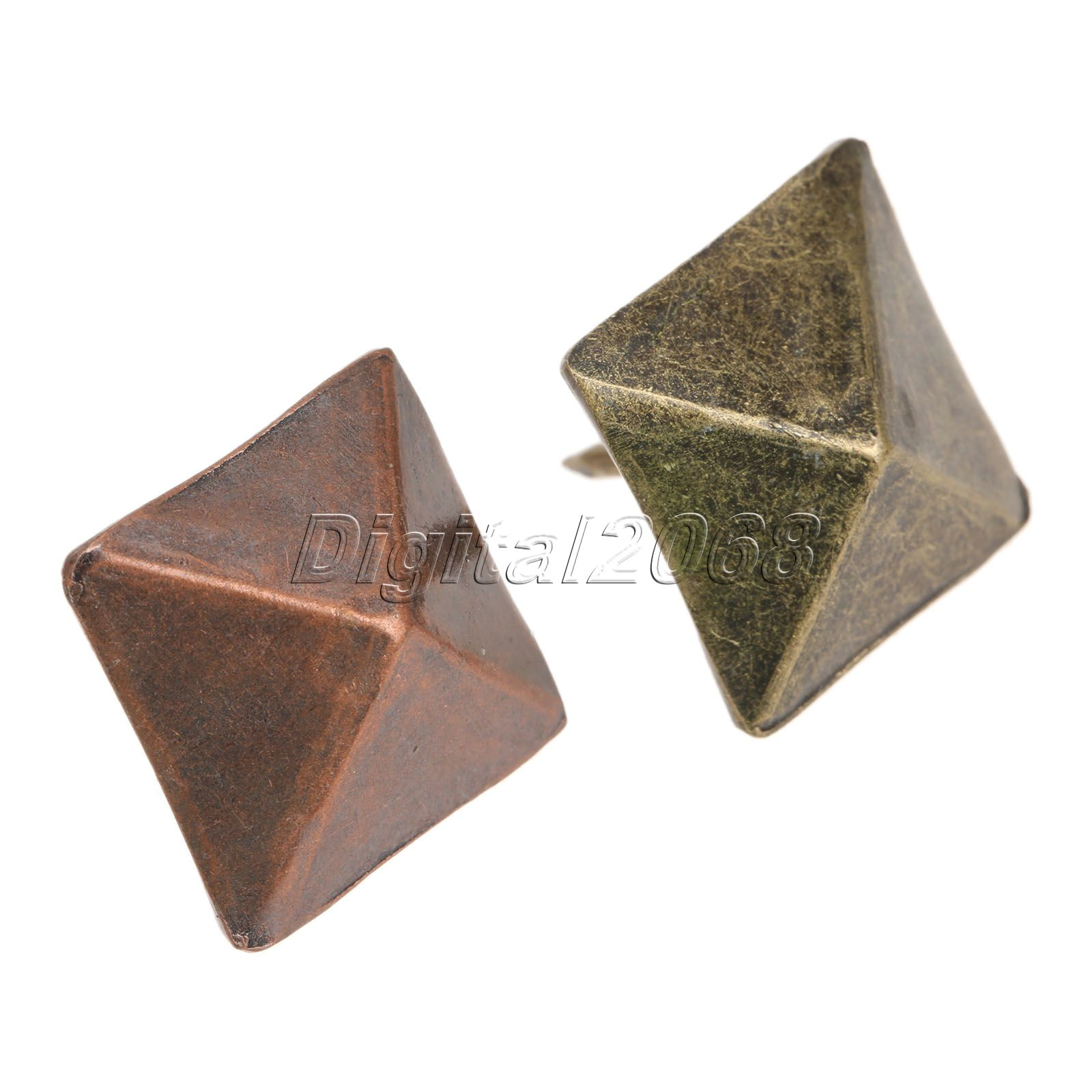 50 Pcs Decorative Upholstery Nail Copper Pyramid Square Rivet Tack For Leather Crafts And Furniture 19x19x21mm(China (Mainland))