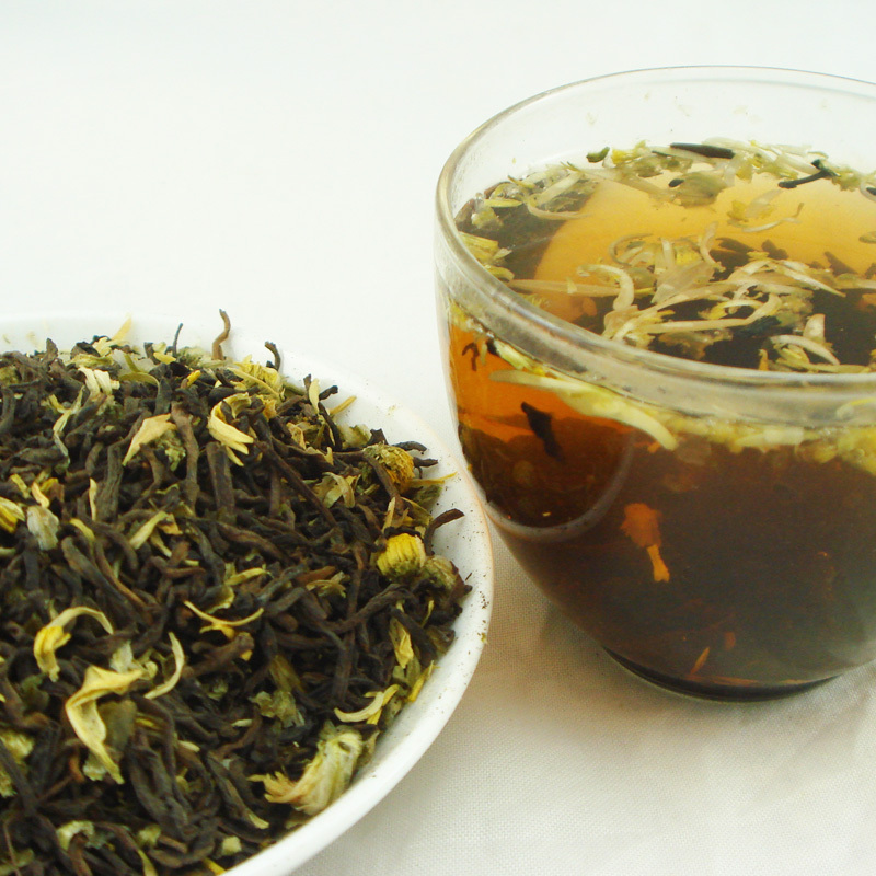 chrysanthemum puer loose tea,refreshing clearing heat and detoxication flower tea,fit tea for weight loss<br><br>Aliexpress