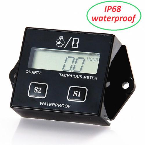IP68 Waterproof Resettable ATV Speedometer Inductive Tach Hour Meter Meater Gauge Digital Car Motorcycle Tachometer rpm Y1011(China (Mainland))