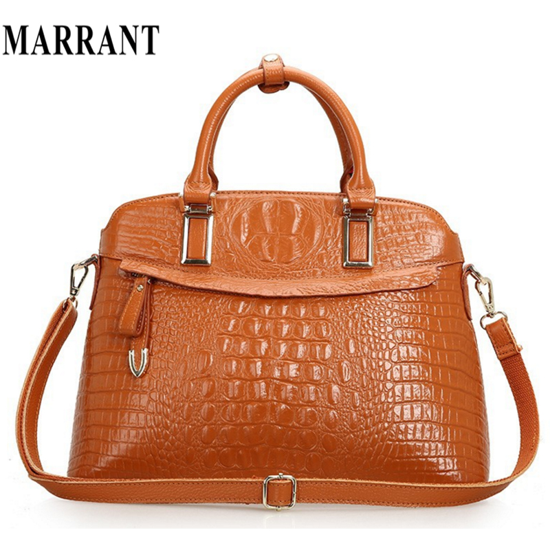 Crocodile genuine leather women bags handbag women messenger bags tote handbags shoulder vintage briefcase lady fashion bag 2015