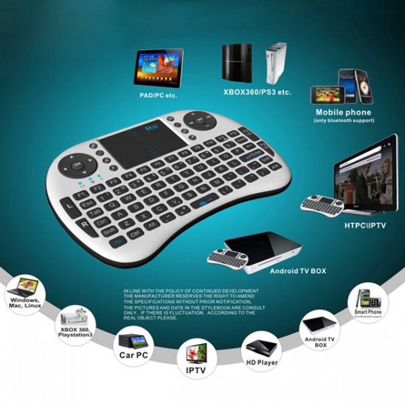 New Rii i8 Mini 2.4GHz Wireless English Keybaord with Touchpad QWERTY for PC Pad Google Andriod TV Box Computer(China (Mainland))
