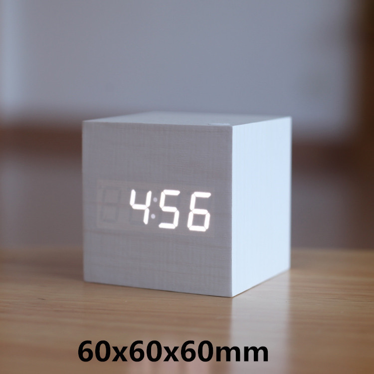 Antique office clock vintage Digital clock LED Retro table personalized brief art clock silent watch gift small electronic clock(China (Mainland))