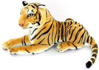 "Emulational Plush Toy Tiger Animal,Brown & White,14"",1PC"