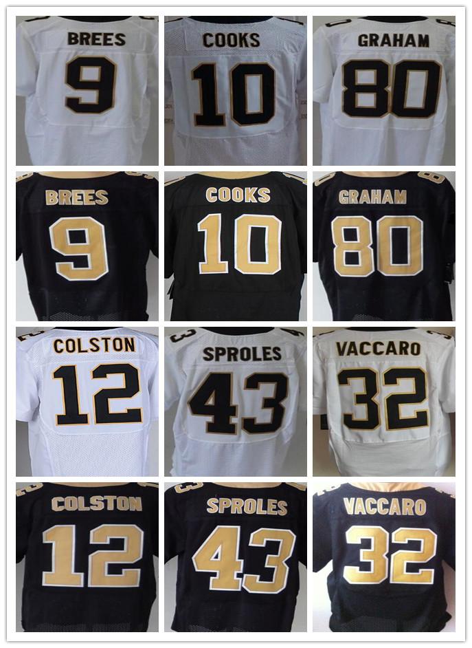 Best quality jersey,Men's 9 Drew Brees cheap 10 Brandin Cooks 32 Kenny Vaccaro 80 Jimmy Graham 43 Darren Sproles elite jersey(China (Mainland))