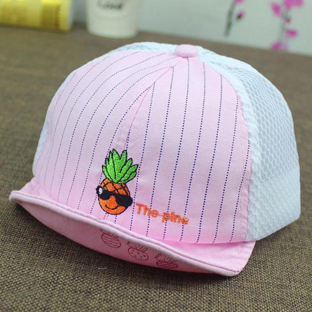 Fancy 2016 Summer Children Caps For Girls Mesh Baby Cap Toddler Sunhat Boys Visor Pineapple Hats Adjustable Kids Beach Suncap(China (Mainland))