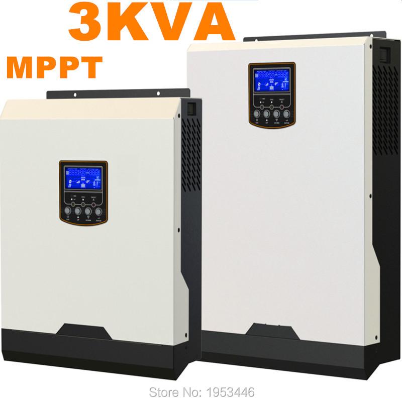 Solar Inverter 3Kva 2400W Off Grid Inverter 24V to 220V 40A MPPT Hybrid Solar Inverter Pure Sine Wave Inverter 25A AC Charger(China (Mainland))