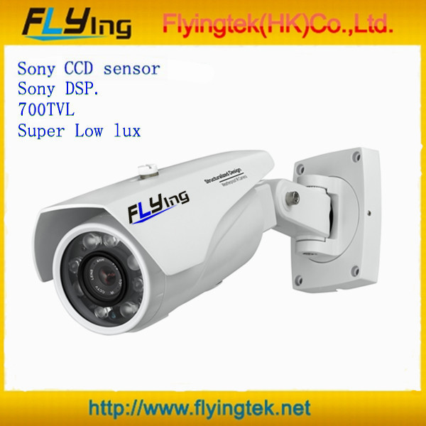 Free Shipping SONY DSP,Sony super low lux CCD 700TVL 6pcs Laser IR LED Outdoor CCTV Camera,Infrared Camera(Hong Kong)