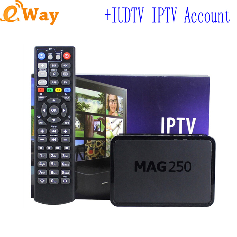 With IUDTV iptv sweden account Greece Netherlands Spain German UK Italy european ip tv code APK mag250 TV box linux set top box(China (Mainland))