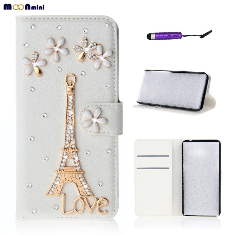 Luxury 3D Bling Diamond Rhinestone Flip Stand Wallet Card Holder Magnetic Closure Fundas Coque Case Cover for Apple iPhone 5C