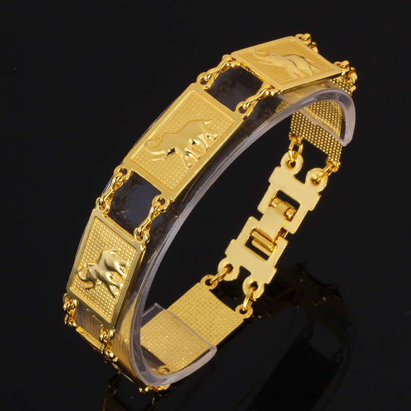 Bracelet For Women/men new Brand Jewelry Fashion Gift Trendy 18K Real Gold/Platinum Plated lucky elephant Bracelets Bangles H681(China (Mainland))