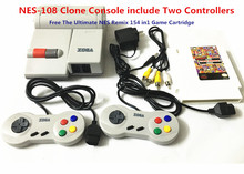 NES-108 Clone Console include Two Controllers, Free The Ultimate NES Remix 154 in1 Game Cartridge,(China (Mainland))