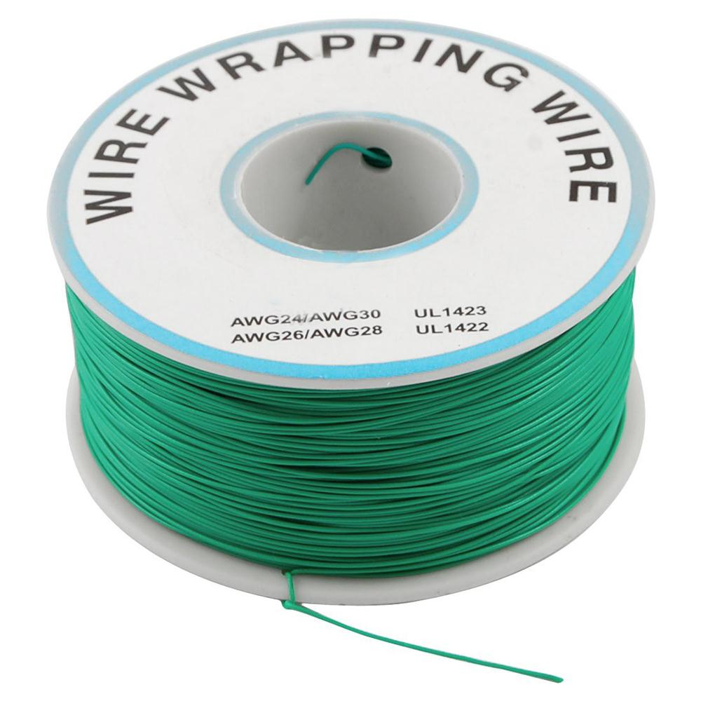 PCB Solder Green Flexible 0.25mm Dia Copper Wire 30AWG(China (Mainland))