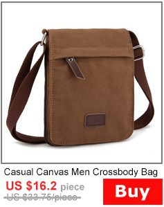 HOT New 2014 Men's Fashion Canvas Cover Zipper Messenger Bags