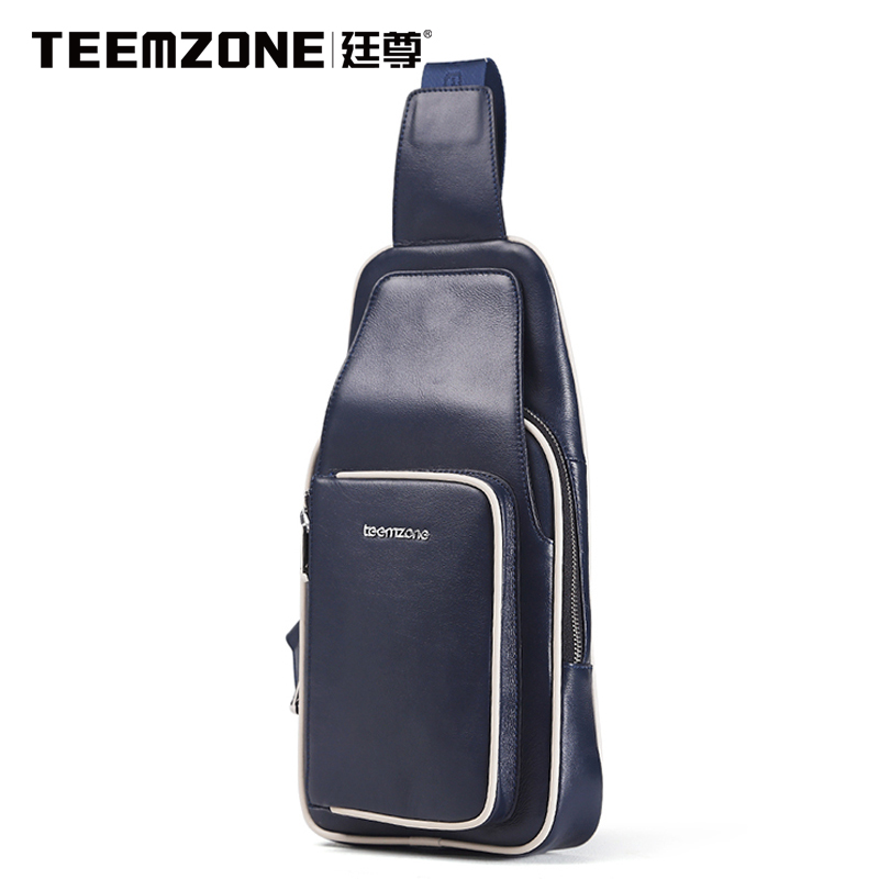 Teemzone Ting statue 2015 new mens chest bag leather satchel male assembling multifunctional leather zipper<br><br>Aliexpress