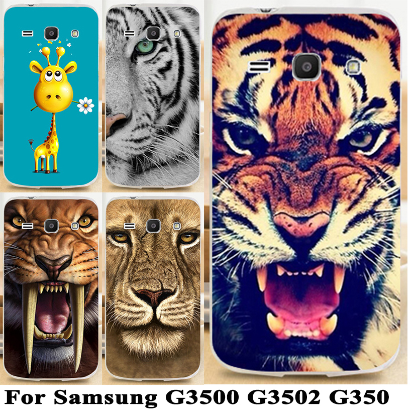 Soft TPU & Hard Plastic Printed Cartoon Mobile Phone Case For Samsung Galaxy Core Plus G350 G3500 G3508 Trend 3 G3502 Cover Case(China (Mainland))