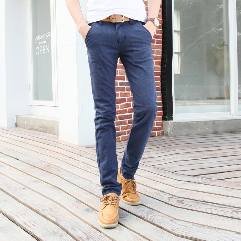 2015 New Men Pants Cotton Korean Style Slim Narrow Foot Mens Casual Pants Menu0026#39;s Feet Scholar ...