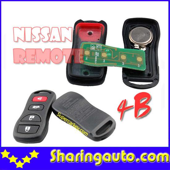 Free shipping 4 Button Remote Keyless for nissa Tiida 10pcs/lot<br><br>Aliexpress