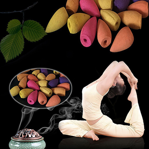 50Pcs Natural Backflow Tower Incense Flower Fragrant Reflux Aromatherapy Cones