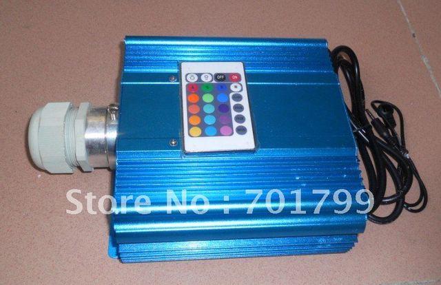 45W LED RGB optical fiber light source,AC90-260V input;with IR remote controller