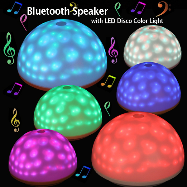 hot Mushroom Bluetooth Speaker LED Disco Light Desk Decoration Lamp For Party Disco Mood Lighting(China (Mainland))