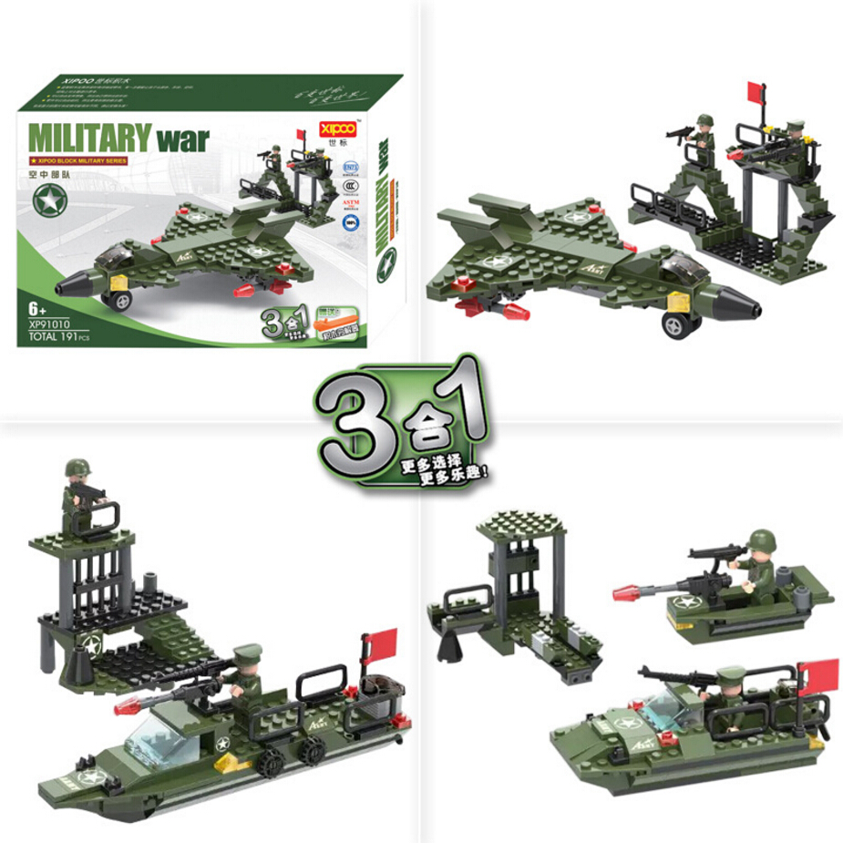 Hot military serises DIY educational assemblage building block 3in1 Army Air force bricks compatible with lego for boys gifts<br><br>Aliexpress