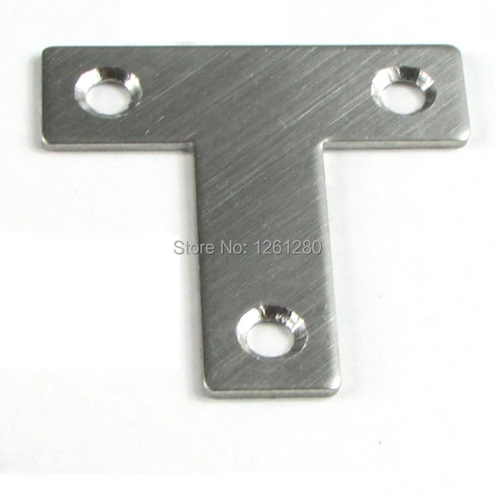 free shipping stainless steel T corner brackets furniture angle code trumpet Laminates drag angle iron furniture hardware<br><br>Aliexpress