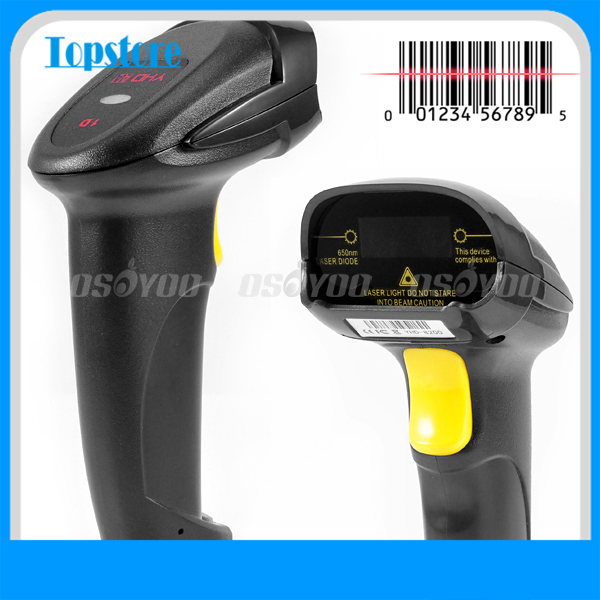 New USB Wired Handheld Laser Barcode Scanner Reader POS Gun For Market Store Scanning Free Shipping & Drop Shipping(China (Mainland))